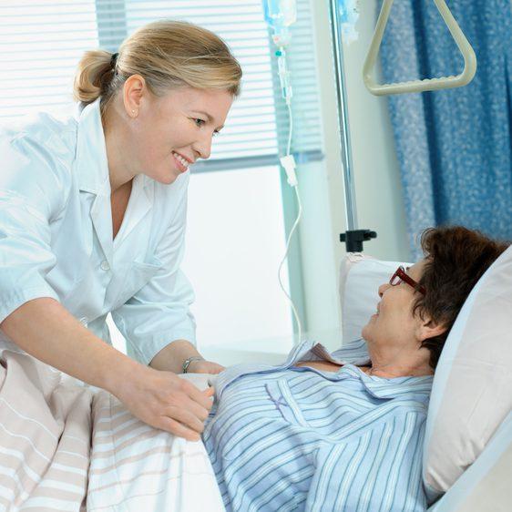 Glidlakan på sjukhus